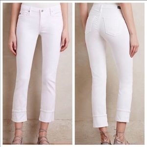 AG The Stevie Cuff Slim Straight white Jeans
